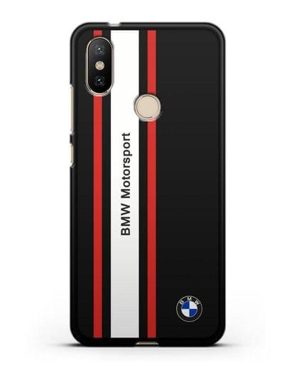 Чехол BMW Motorsport силикон черный для Xiaomi Mi A2