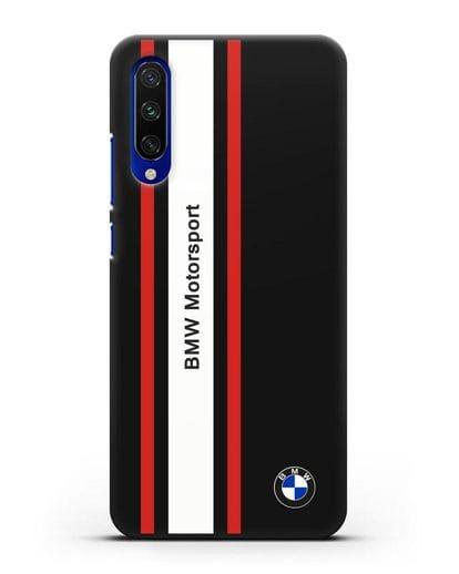 Чехол BMW Motorsport силикон черный для Xiaomi Mi A3