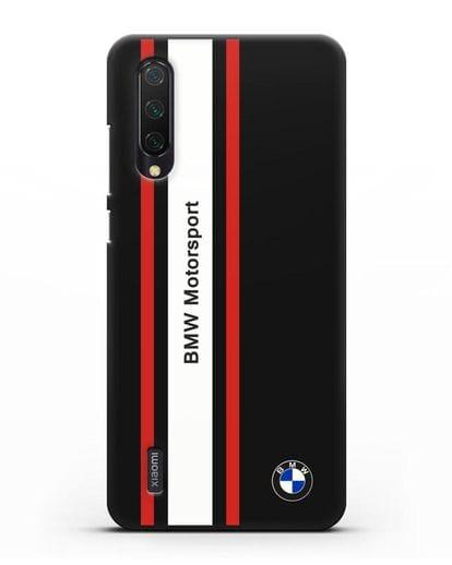 Чехол BMW Motorsport силикон черный для Xiaomi Mi A3 Lite