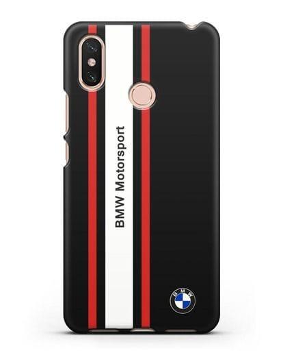 Чехол BMW Motorsport силикон черный для Xiaomi Mi Max 3