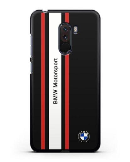 Чехол BMW Motorsport силикон черный для Xiaomi Pocophone F1