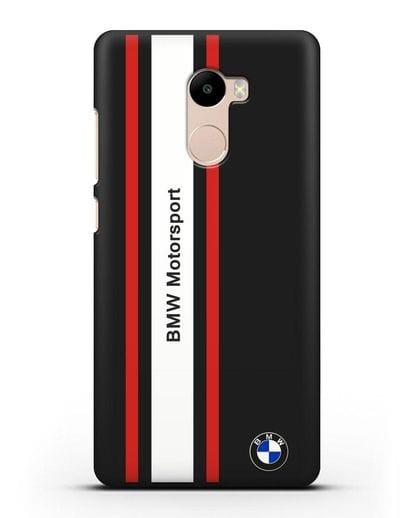 Чехол BMW Motorsport силикон черный для Xiaomi Redmi 4