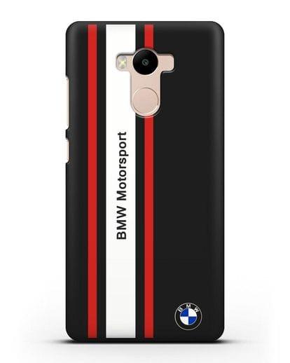 Чехол BMW Motorsport силикон черный для Xiaomi Redmi 4 Pro