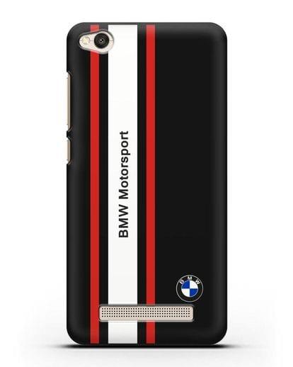 Чехол BMW Motorsport силикон черный для Xiaomi Redmi 4A