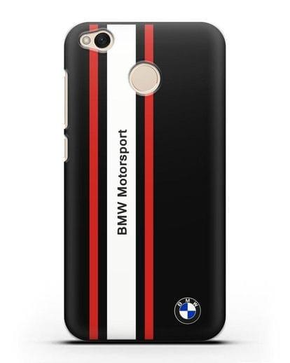 Чехол BMW Motorsport силикон черный для Xiaomi Redmi 4X