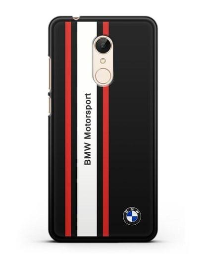 Чехол BMW Motorsport силикон черный для Xiaomi Redmi 5 Plus