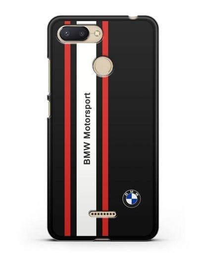 Чехол BMW Motorsport силикон черный для Xiaomi Redmi 6