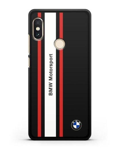 Чехол BMW Motorsport силикон черный для Xiaomi Redmi 6 Pro