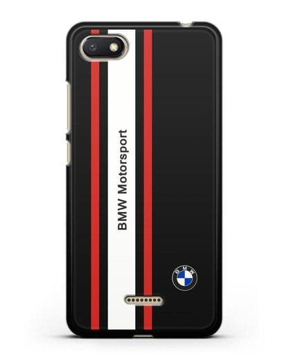 Чехол BMW Motorsport силикон черный для Xiaomi Redmi 6A