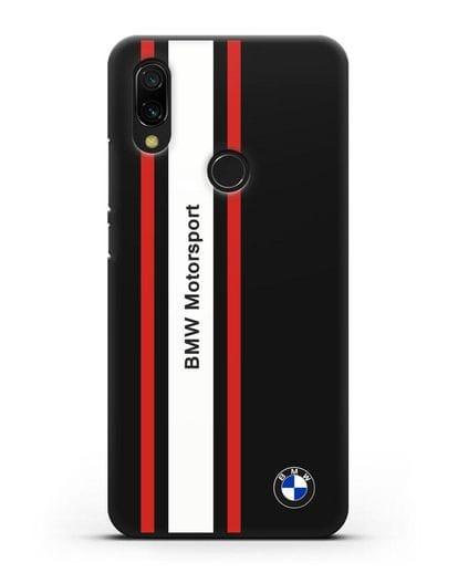Чехол BMW Motorsport силикон черный для Xiaomi Redmi 7
