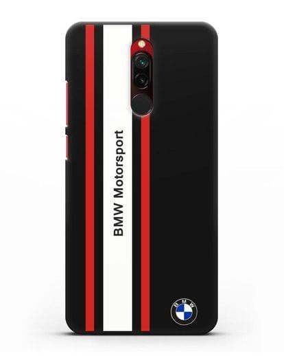 Чехол BMW Motorsport силикон черный для Xiaomi Redmi 8