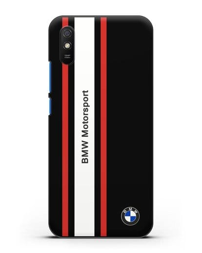 Чехол BMW Motorsport силикон черный для Xiaomi Redmi 9A