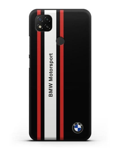 Чехол BMW Motorsport силикон черный для Xiaomi Redmi 9С