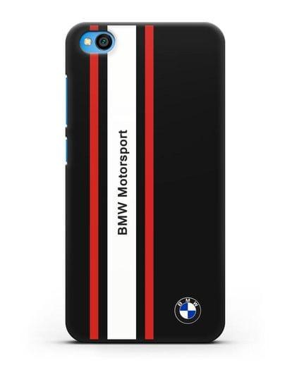 Чехол BMW Motorsport силикон черный для Xiaomi Redmi Go