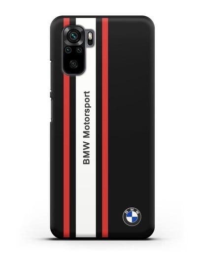Чехол BMW Motorsport силикон черный для Xiaomi Redmi Note 10