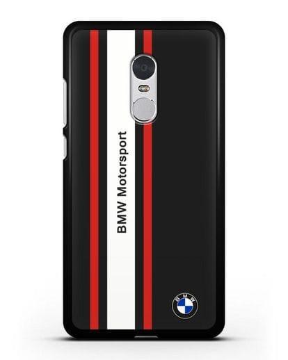 Чехол BMW Motorsport силикон черный для Xiaomi Redmi Note 4