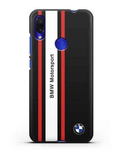 Чехол BMW Motorsport силикон черный для Xiaomi Redmi Note 7