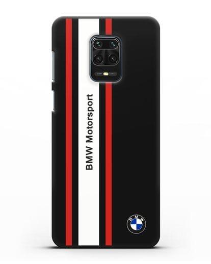 Чехол BMW Motorsport силикон черный для Xiaomi Redmi Note 9 Pro