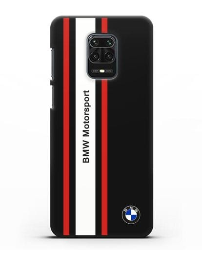 Чехол BMW Motorsport силикон черный для Xiaomi Redmi Note 9S