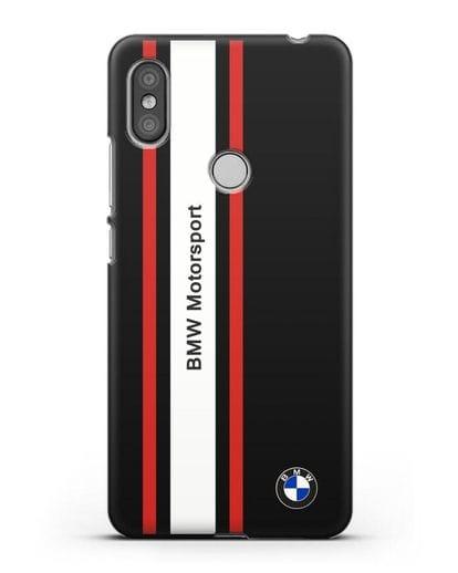 Чехол BMW Motorsport силикон черный для Xiaomi Redmi S2