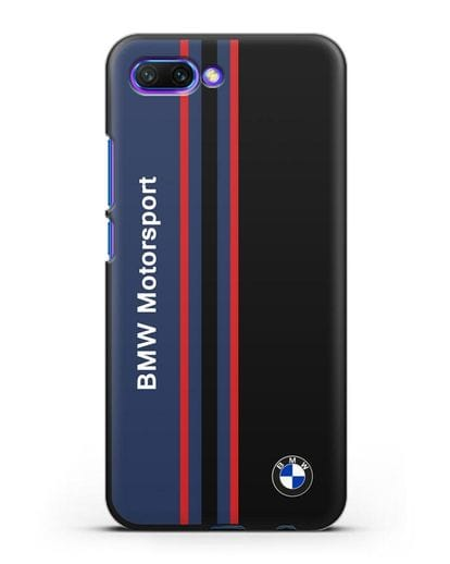 Чехол с надписью BMW Motorsport силикон черный для Honor 10