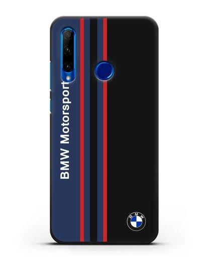 Чехол с надписью BMW Motorsport силикон черный для Honor 10i