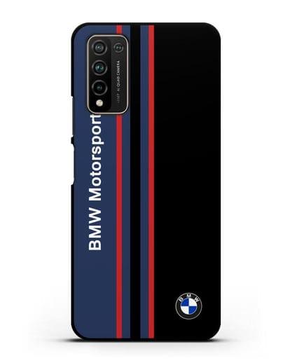Чехол с надписью BMW Motorsport силикон черный для Honor 10X Lite