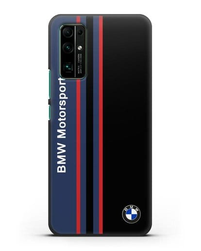 Чехол с надписью BMW Motorsport силикон черный для Honor 30