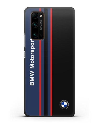 Чехол с надписью BMW Motorsport силикон черный для Honor 30 Pro