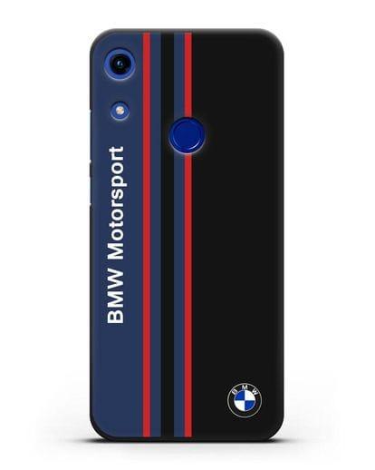 Чехол с надписью BMW Motorsport силикон черный для Honor 8A