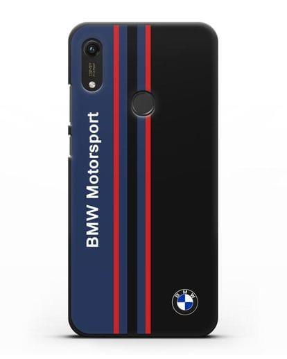 Чехол с надписью BMW Motorsport силикон черный для Honor 8A Prime