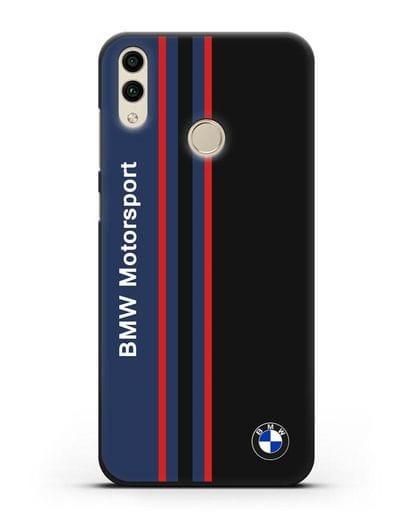 Чехол с надписью BMW Motorsport силикон черный для Honor 8C