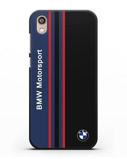Чехол с надписью BMW Motorsport силикон черный для Honor 8S Prime
