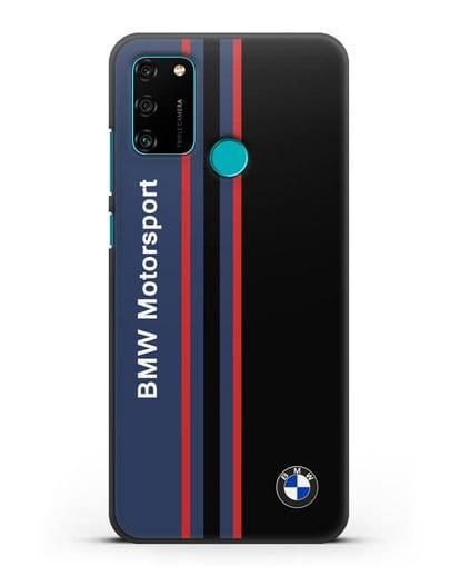 Чехол с надписью BMW Motorsport силикон черный для Honor 9A