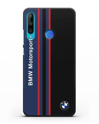 Чехол с надписью BMW Motorsport силикон черный для Honor 9C