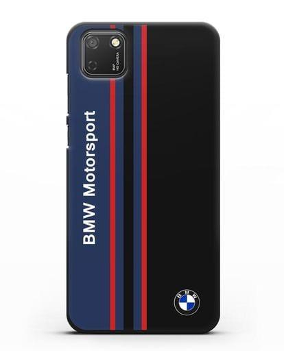 Чехол с надписью BMW Motorsport силикон черный для Honor 9S