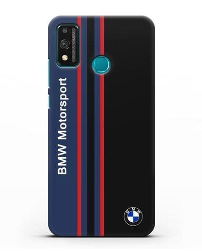 Чехол с надписью BMW Motorsport силикон черный для Honor 9X lite