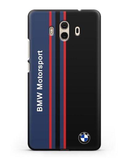 Чехол с надписью BMW Motorsport силикон черный для Huawei Mate 10