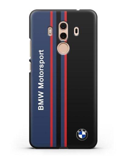 Чехол с надписью BMW Motorsport силикон черный для Huawei Mate 10 Pro