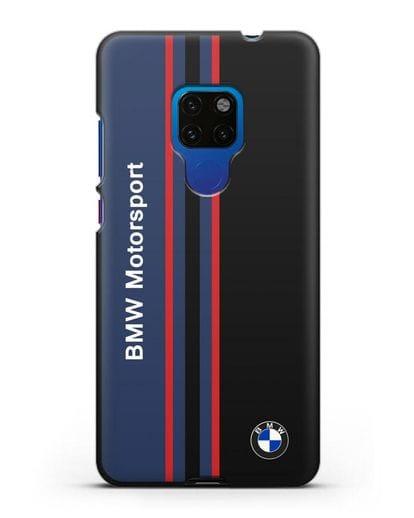 Чехол с надписью BMW Motorsport силикон черный для Huawei Mate 20