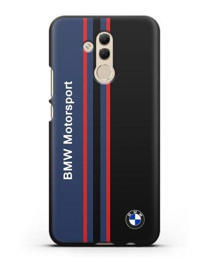 Чехол с надписью BMW Motorsport силикон черный для Huawei Mate 20 Lite