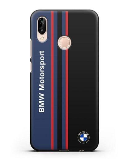 Чехол с надписью BMW Motorsport силикон черный для Huawei P20 Lite