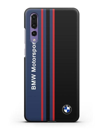 Чехол с надписью BMW Motorsport силикон черный для Huawei P20 Pro