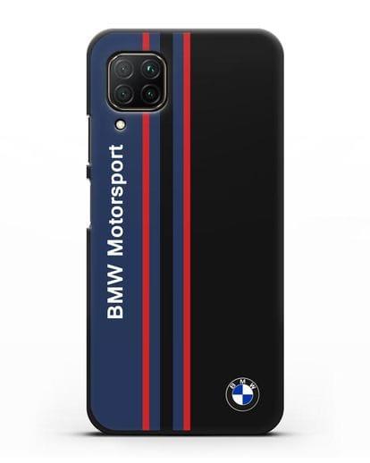 Чехол с надписью BMW Motorsport силикон черный для Huawei P40 lite