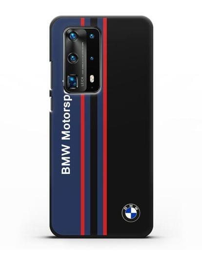 Чехол с надписью BMW Motorsport силикон черный для Huawei P40 Pro
