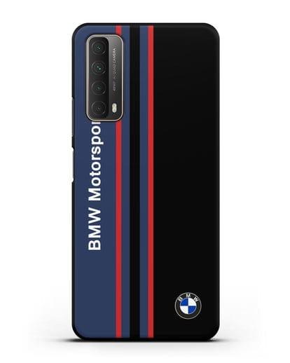 Чехол с надписью BMW Motorsport силикон черный для Huawei P Smart 2021