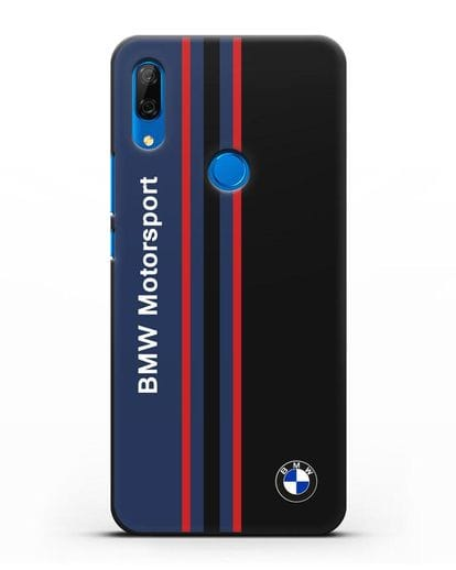 Чехол с надписью BMW Motorsport силикон черный для Huawei P Smart Z