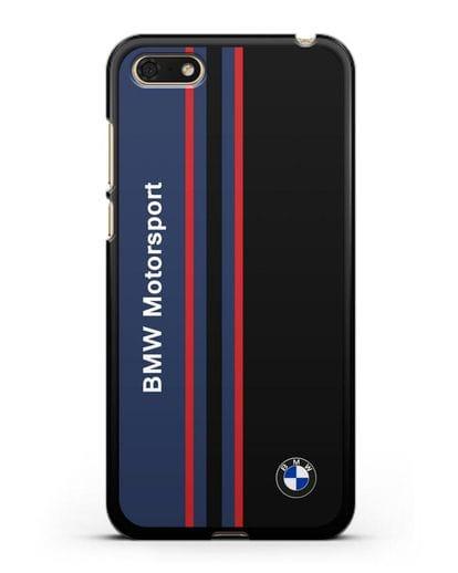 Чехол с надписью BMW Motorsport силикон черный для Huawei Y5 Prime 2018