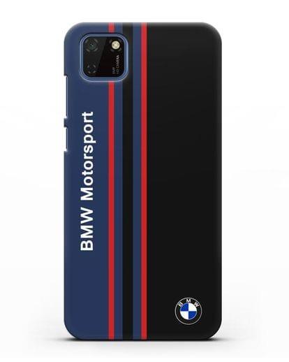Чехол с надписью BMW Motorsport силикон черный для Huawei Y5P