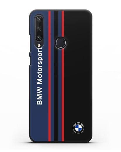 Чехол с надписью BMW Motorsport силикон черный для Huawei Y6P